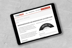 TyraPack Website - Tablet Ansicht